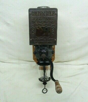 Rare Antique Wall Mounted Coffee Grinder in Excellent Condition