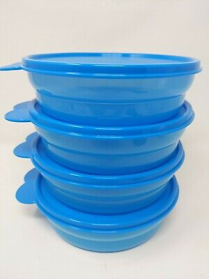 Tupperware Microwave Impressions Cereal Bowl Set of 4 New