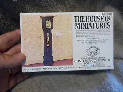 The House of Miniatures X-ACTO William and Mary Tall Case Clock  NIB NO. 40018