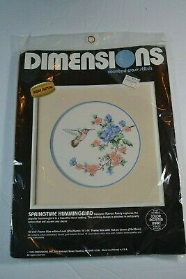 Dimensions Springtime HUMMINGBIRD Counted Cross Stitch Kit 3628
