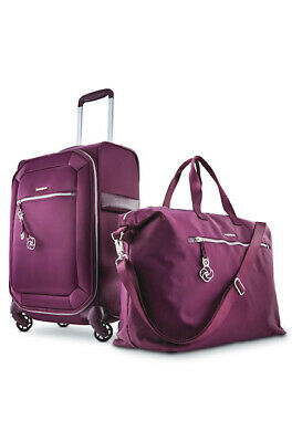 Samsonite Magnifique Journee 2-Piece Softside Luggage Set 4 Spinner Wheel