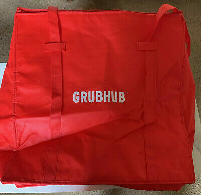 Insulated Food Warm hot Delivery Bag Pan Carry Travel Red Pizza Ubereats Grubhub