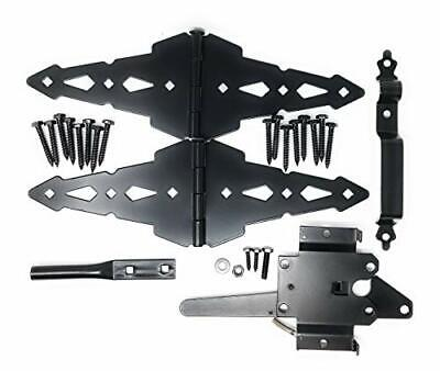 Heavy Duty Kit for Fence Swing Gate- Outdoor Decorative Black Finish