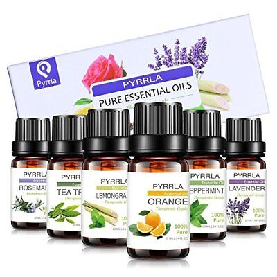 6Bottles of 10ML Pure Essential Oils Set Kit 100% Natural Aromatherapy Fragrance
