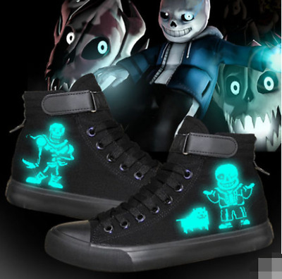 Anime Undertale sans Cosplay personality High help Casual canvas shoes AA Hot!