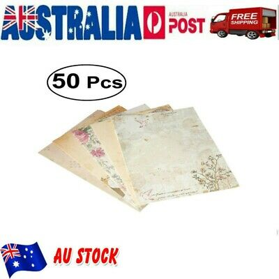 50Pcs Retro Chinese Style Writing Stationery Paper Pad Note Letter Postcard New