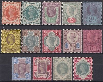 SG 197-214 full Jubilee set of 14 in average mounted mint condition.