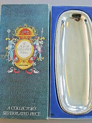 Vintage Falstaff silver plated tray in original box