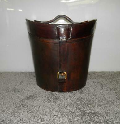 Vintage Novelty Faux Leather Ice Box In The Form Of A Top Hat Box