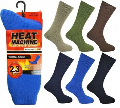 MENS HEAT INSULATERS THERMAL SOCKS 2.3 TOG RATING SIZE 6-11 THICK WARM WORK uk
