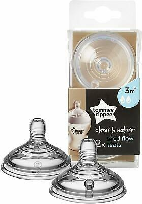 Tommee Tippee Closer to Nature Medium Flow Teats x 2 - FREE DELIVERY!