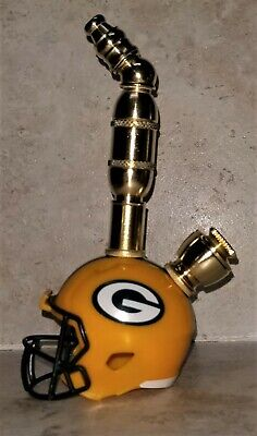 Green Bay Packers Nfl Upright Football Helmet Smoking Pipe