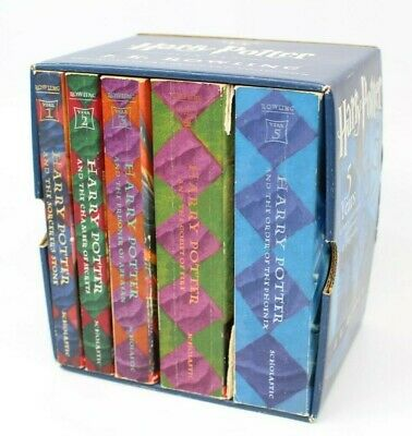 ~~Harry Potter Scholastic American Print Box Set J.k. Rowling Books 1-5