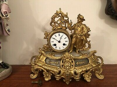 Antique Frence Mantel Clock 8 Day Good Working Order