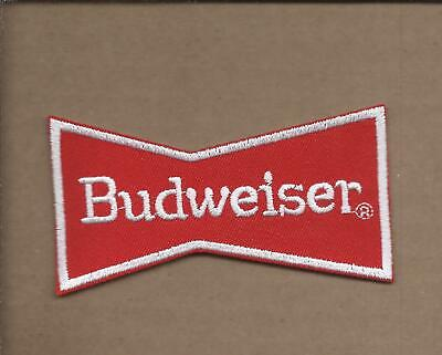 New 2 X 3 3/4 Inch Budweiser Beer Bow Tie Iron On Patch Free Shipping P1