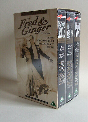 Fred & Ginger Collection 3 film VHS box set Astaire Rogers Flying Down to Rio &c