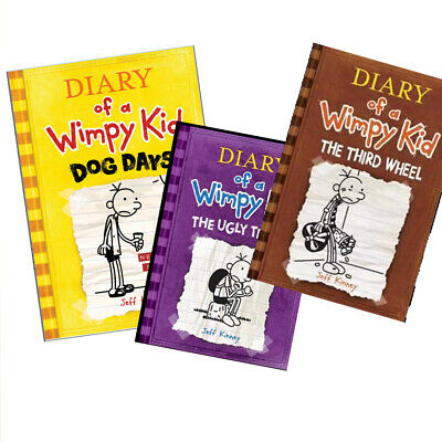 Diary of a Wimpy Kid: The Third Wheel by Jeff Kinney Complete Set