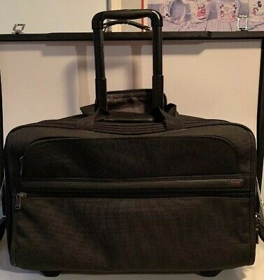 Tumi Alpha Long Wheeled Black Rolling Garment Bag Luggage 22018D4 (needs Repair)