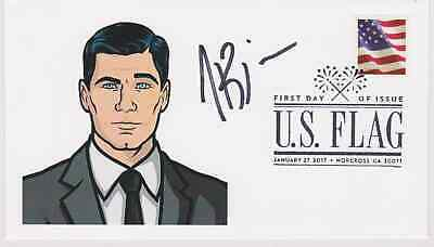 Signed H. Jon Benjamin Fdc Autographed First Day Cover Archer