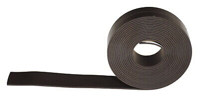 School Smart Adhesive Backed Magnetic Rubber Strip, 1 Inch x 10 Feet