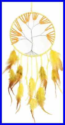 YELLOW LARGE Dream Catcher Catchers For Wall Handmade Native American Boho Hippi
