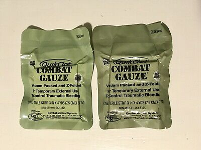 Two Pack Quik Clot Combat Gauze, IFAK, BOK, Med Kit