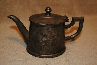 Vintage Fracalanza Tea Coffee Pitcher Excelsior  Grao Para Brazil Silver Plated