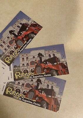 3 Adult Ripley's St Augustine Florida Bayfront Mini Golf Tickets