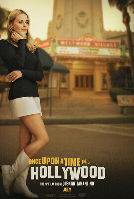 ONCE UPON A TIME IN HOLLYWOOD MOVIE POSTER SS ORIGINAL VF 27x40 MARGOT ROBBIE
