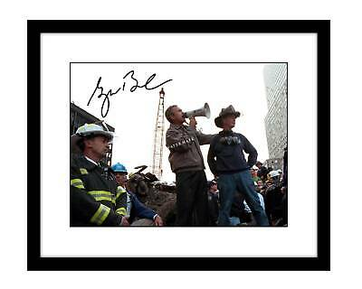 George W Bush 8x10 Signed photo print September 11th WTC towers 9/11 president