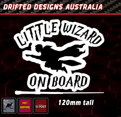 Little Wizard On Board - baby on Board White Funny Decal