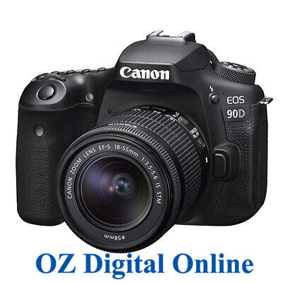 NEW Canon EOS 90D +18-55 STM Kit 32.2MP Wifi 4K Video DSLR Camera 1 Year Au Wty