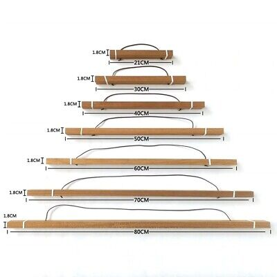 Magnetic Wood Photo Picture Frame Large A3 A4 Poster Print Art Wooden Hanger