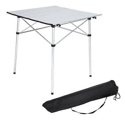 Portable Aluminum Roll Up Table Folding Camping Outdoor Indoor Picnic Party BBQ