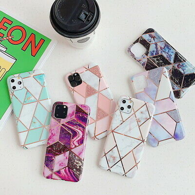 Geometric Marble Case For iPhone 11 Pro Max XS XR X 7 8 Plus Charm Pastel Cover