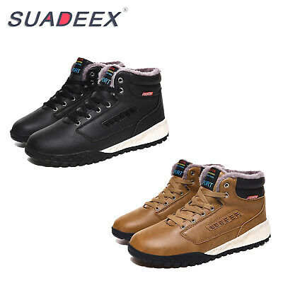 Mens Winter Waterproof Snow Boots Fur Lined Outdoor Sports Shoes Warm Sneakers