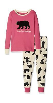 "Hatley Girl's Polo Bears ""Bearly Sleeping"" Pyjama Set Pink"