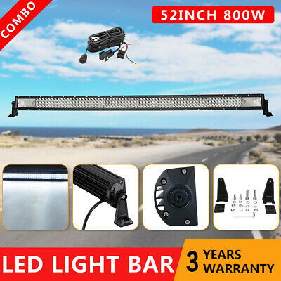 52inch CREE LED Light Bar Spot Flood Combo Beam Work Driving 4WD Offroad + Wire