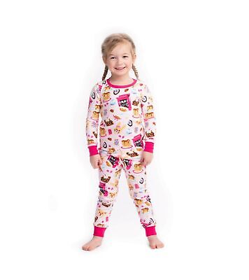 Hatley Girl's Organic Cotton Long Sleeve Printed Pyjama Sets 3 Years