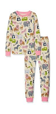 Hatley Girl's Long Sleeve Appliqué Pyjama Sets 8  Years  (Manufacturer Size:8)