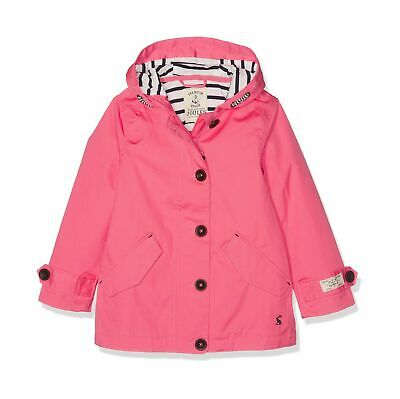 Joules Girl's Coast Jacket 11-12 Years Pink (Bright Coral Brightcorl)