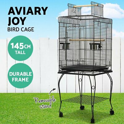 iPet Large Bird Cage Pet Aviary Birds Stand Budgie Parrot Display Stand on Wheel