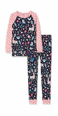Hatley Girl's Organic Cotton Long Sleeve Printed Pyjama Sets 6 Years