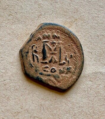 Byzantine bronze follis of emperor Heraclius (610-641), dated AD 626.Attractive!