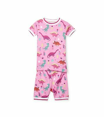 Hatley Girl's Organic Cotton Short Sleeve Printed Pyjama Sets 8 Years