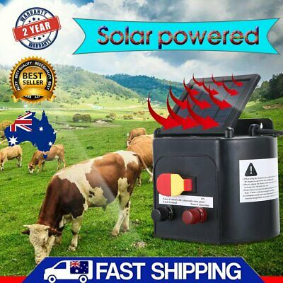 NEW 8kV (Output) Electric 5km Solar Power Fence Energiser Charger, C.E. Approved