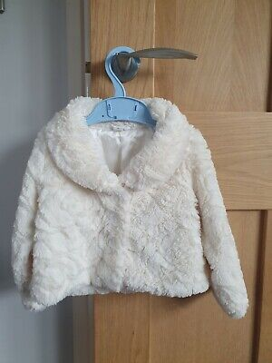 Pumpkin Patch Girls Faux Fur Coat 2 Years. Excellent condition