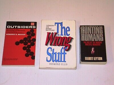 3 Book Lot - Sociology (Deviance, Mass Murder, etc.) (Becker, Ellis, Leyton)