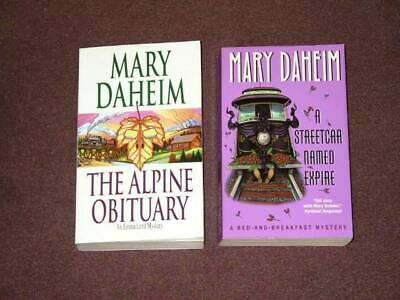 Mary Daheim Book Lot – 2 Pocket Books (USED) Alpine Obituary, Streetcar Named...