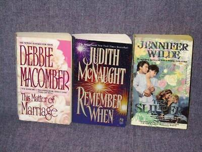 3 Book Lot - Romance (Debbie Macomber, Judith McNaught, Jennifer Wilde) MMPB